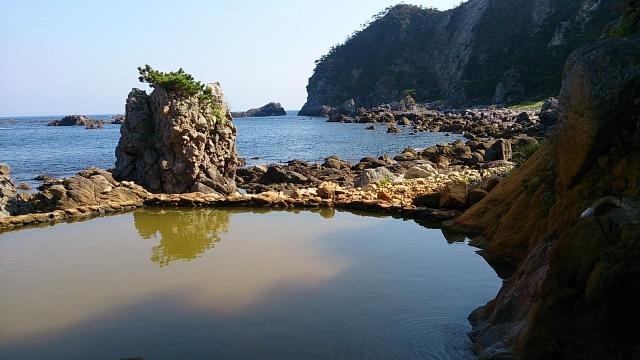 式根島的地鉈溫泉